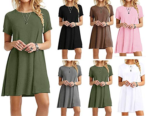 Damen SHIRTKLEID Kleid Sommerkleid Longshirt Bluse Tuniken