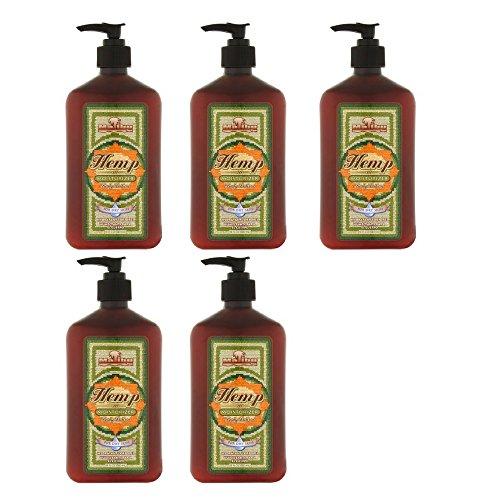 Malibu Tan Body Lotion for Dry Skin Hemp Moisturizer, 18 fl oz (5 Pack)