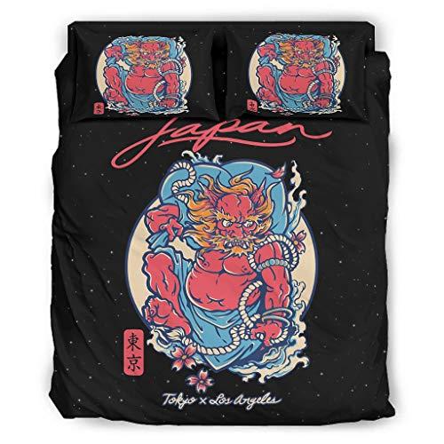 YOUYO Spark Japón-ese D-malvado To-kyo Juego de cama popular agradable al tacto - Ropa de camaSan Valentín blanco 228x228cm