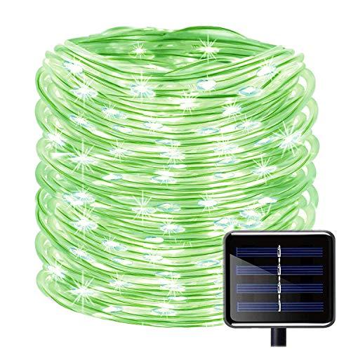 KINGCOO 100LED Catena Luminosa Solare, Impermeabile 39ft/12M Stringa Luci Corda Tubo Rame Decorative per Natale Giardino Sentiero (Verde)