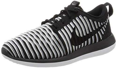 Nike Women's W Roshe Two Flyknit Running Shoes, Black (Black (Black/Black-White-Cool Gray), 4.5