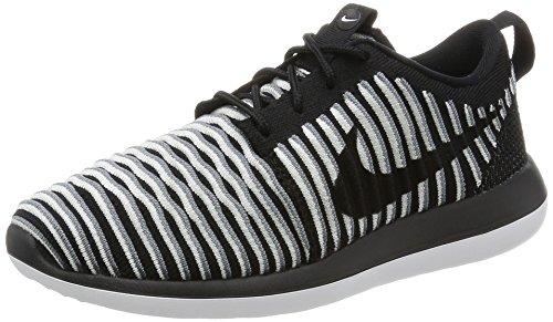 Nike Damen W Roshe Two Flyknit Laufschuhe, Black (Black (schwarz/schwarz-weiß-kühles Grau), 38 EU