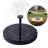 Immuson Solar Fountain Pump, Free Standing Bird Bath Fountain Water Pump, 1.4W Outdoor