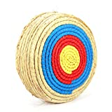 awagas 7 Layers 20 inch Traditional Solid Straw Round Archery Target 6 inch Thickness Hand-Made Straw Arrow Target Shooting Bow Rope Target Face 60 Pounds Hold for Outdoor Shooting Practice