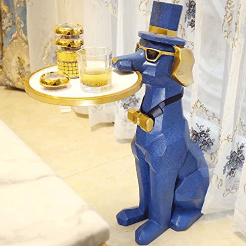 ZLBYB Adornos para Mascotas Aterrizaje Sala de Estar Perro TV gabinete Luces Adornos de decoración del hogar de Lujo
