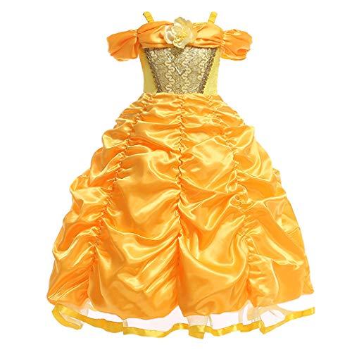 Lomelomme Halloween Mädchen Cosplay Prinzessin Brautjungfer Festzug Kleid Geburtstag Halloween Party Brautkleid Karneval Party Prinzessin Rock Tanzkleid