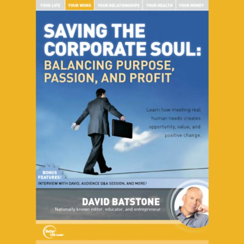 Saving the Corporate Soul (Live) audiobook cover art