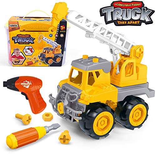 Take Apart Toys with Electric Drill   Toddler DIY Assembly Construction Truck   Building Toys Gifts for Boys & Girls Age 3yr-6yr   Kids Stem Building Toy Age 4,5 (Crane)