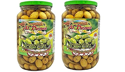 Cheap bargain Al Dayaa Green Olives with Thyme OZ Jars each 35 100g 2 Popular popular