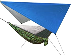 YSCYLY Tienda Liviana para Hamacas con Bolsa de Transporte,Hamaca Ultraligera de Nylon Doble con mosquitera,Ideal para Viaje Playa Senderismo Camping Hammock