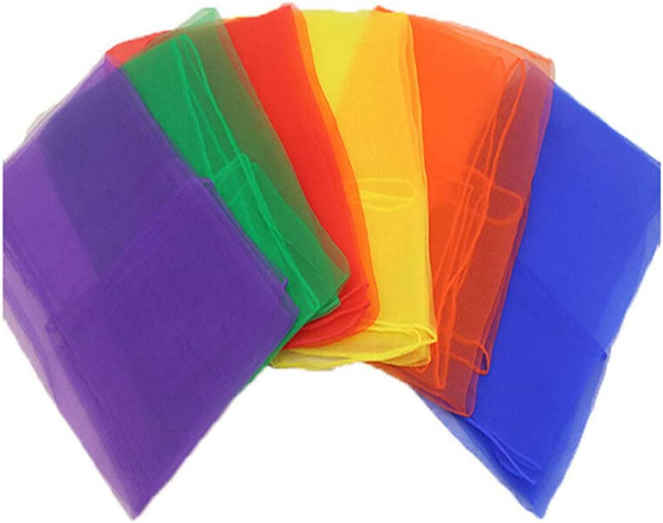 SONGLIN Colorful Easy-to-use Hemmed Square Rhythm Danc Juggling OFFer Scarves Band