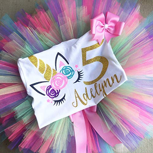 Butterfly Birthday Tutu Outfit Set Dress Shirt Personalized in Hot Pink Purple Baby Pink Aqua and Lime Any Age Needed