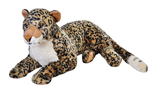 Wild Republic 19798 Jumbo Plüsch Leopard, großes Kuscheltier, Plüschtier, Cuddlekins, 76 cm