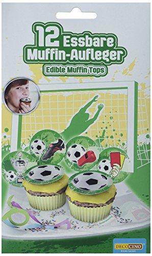 Dekoback Essbare Zucker-Muffinaufleger Fußball, 1er Pack (1 x 11 g)