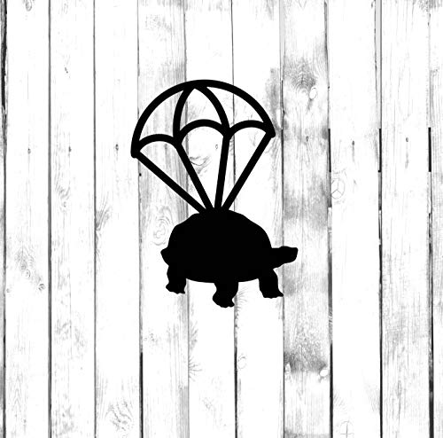 Calcomanía de paracaídas de tortuga – buceo con paracaídas Di Cut calcomanía – hogar, portátil, computadora, camión, parachoques de coche calcomanía