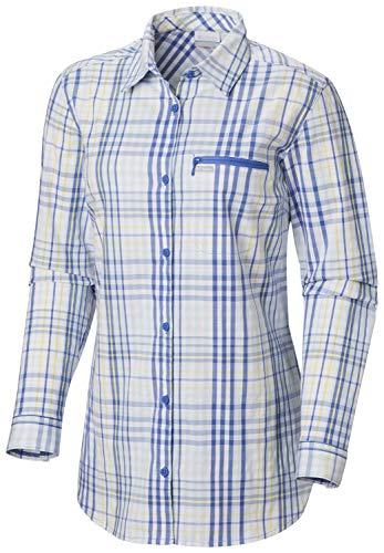 Columbia Anytime CasualTM Stretch-Shirt für Damen, Damen, athletische T-Shirts, Anytime Casual™ Stretch Shirt, Arctic Blue Plaid, X-Large