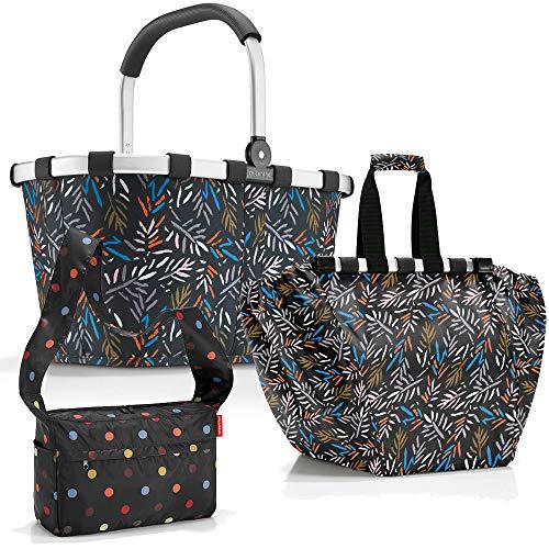 Reisenthel Carrybag Einkaufskorb Einkaufstasche Easybag Shoppingtasche cesta Falttasche Einkaufskorb Picknickkorb Klappkorb regalo Set (Autumn 1)
