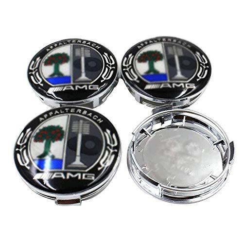 4 Piezas Coche Tapas Centrales Llantas Para AMG, 75 Mm Tapas Rueda Centro Tapacubos Coche Insignia Del Polvo Accesorios De Estilo