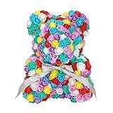 FOSTUDORK Liebe Rose Bär, Seifenschaum Bear Puppe Teddy Kaninchen Panda Blumen Künstliche Frauen...
