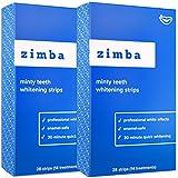 Zimba Teeth Whitening Strips - Zimba Whitening Strips - Teeth Whitening Formulated for Sensitive Teeth - White Strips Teeth Whitening - Natural, Enamel-Safe Whitening Strips (2 Pack, Mint)