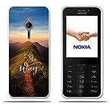 FUBAODA für Nokia 230 Hülle, [Peak Road] Transparent Silikon TPU 3D zeitgenössischen Chic Design Minimalist Ultra Thin Lightest Fashion Kreativ Slim Fit Shockproof Flexible Beschützer für Nokia 230