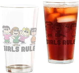 CafePress Peanuts Gang Girls Rule Pint Glass, 16 oz. Drinking Glass