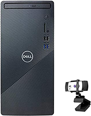 Dell 2020 Newest Inspiron Desktop PC, Intel Core i5-10400, 12GB DDR4 RAM 256GB PCIe SSD + 1TB HDD, HDMI, WiFi Bluetooth, DVD-RW, Wired Keyboard & Mouse, KKE 1080P Webcam, Windows 10 Home