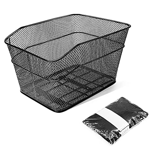 ANZOME Rear Bike Basket – Metal Wire Bicycle Cargo Rack Mount for...