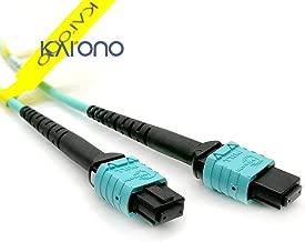 Karono MPO-MPO Patch Cord, OM3 Multimode Fiber, 8-core Fiber for QSFP+Transceivers MTP Compatible Application (23ft (7M))