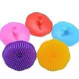 Op. H 1Plum-Shaped Shampoo Bürste Peeling Haar Bürste Haar Care Clean Qualität Head Massage Bürste, Zufällige Farbe -