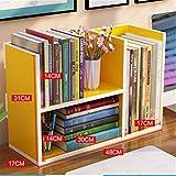 Estanterías de sala de estar de los niños de escritorio pequeño estante rack de almacenamiento en rack Oficina Provincial Espacio Librería Multicolor Opcional estantería Estudiante sencilla tabla Para