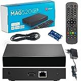 Original Infomir MAG520w3 Wİ-Fİ /4K UHD IPTV Box / Internet TV / 2160p 60 FPS Media Player IPTV Receiver Set Top Box / Kompatibel HEVC H.256 / Quad Core ARM Cortex-A53 / + Kable HDMI