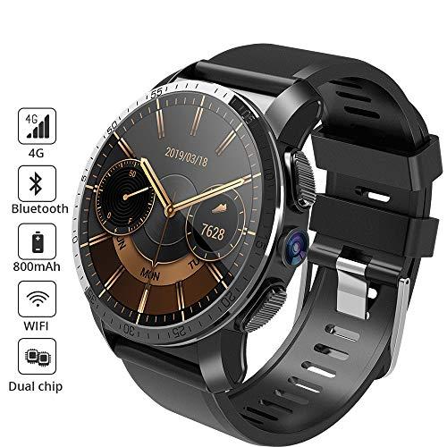 HFJ&YIE&H 4G Dual Chip IP67 wasserdicht Smartwatch Bluetooth/W-LAN/GPS Navigation/Herzfrequenz-Messgerät/Schrittzähler/Multi-Sport-Modi Android 7.1 8MP Kamera 800mAh 1,39-Zoll-Display SIM-TF-Karte