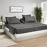 Split Sheet Set (5Pc) Split California King Sheets for Adjustable Beds 100% Egyptian Cotton 1000...