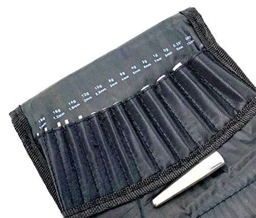 INKgrafiX® profesional DEHN Set de varillas de acero inoxidable – con funda – Extensible uno hasta 10 mm – profesional de estudio – IG30429