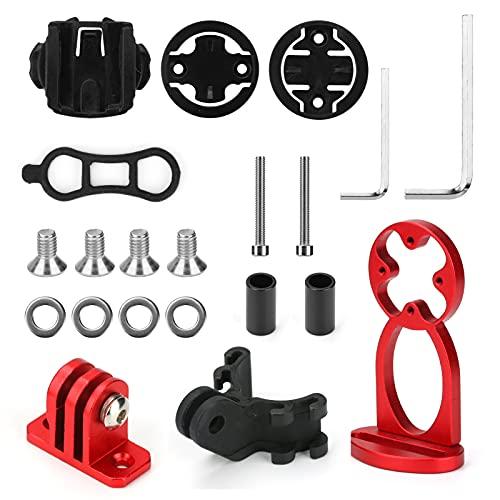 Laelr Conjunto de montaje extendido para bicicleta delantera ajustable, montaje en bicicleta, montaje frontal para ordenador, GPS y manillar extendido para linterna, cámara deportiva, Garmin, Bryton, Catey