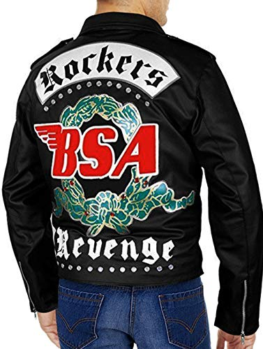 RLW Mens Celebrity Famous Jackets Collection (BSA George Leather Jacket, Large)