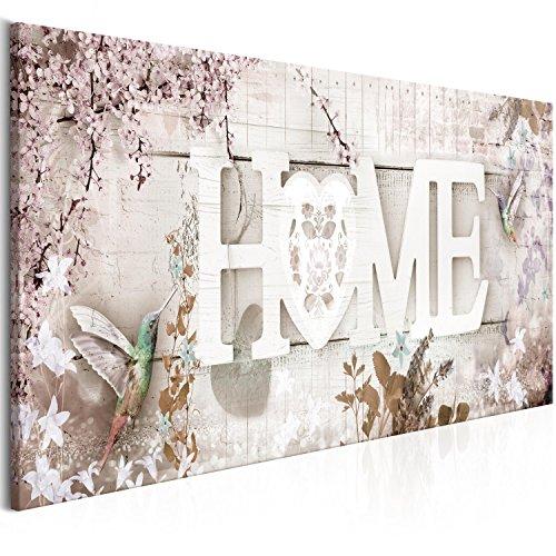 murando Cuadro en Lienzo Casa Home 120x40 cm 1 Parte impresión en Material Tejido no Tejido Cuadro de Pared impresión artística fotografía Imagen gráfica decoración Colibrí Flores m-C-0266-b-d