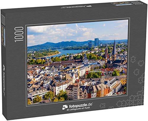 Puzzle 1000 Teile Luftbild von Bonn, der ehemaligen Hauptstadt Deutschlands - Klassische Puzzle mit edler Motiv-Schachtel, Fotopuzzle-Kollektion 'Deutschland'