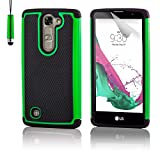 32nd® Funda Rígida Anti-Choques de Alta Proteccion para LG G4C (G4 Mini / H525N) Carcasa Defensora de Doble Capa - Verde