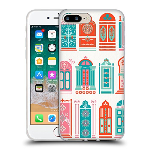 Head Case Designs Oficial Cat Coquillette Puertas de sandía Edificios Carcasa de Gel de Silicona Compatible con Apple iPhone 7 Plus/iPhone 8 Plus