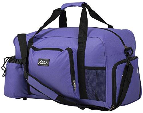 Andes 40 Litre Purple Sports Gym Travel Bag Shoulder Holdall Luggage,...