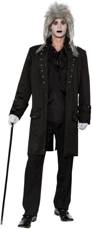para mayoristas ORLOB KARNEVAL GmbH Adornos de capa corta de los hombres hombres hombres Tamaño del patrón 46-60 Abrigo de la capa negra Abrigo de la chaqueta Barroco gótico (46 48)  centro comercial de moda