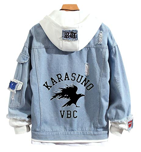 YOYOSHome Japanese Anime Denim Jacket Hoodie Sweatshirt Hooded Adult Cosplay Costume