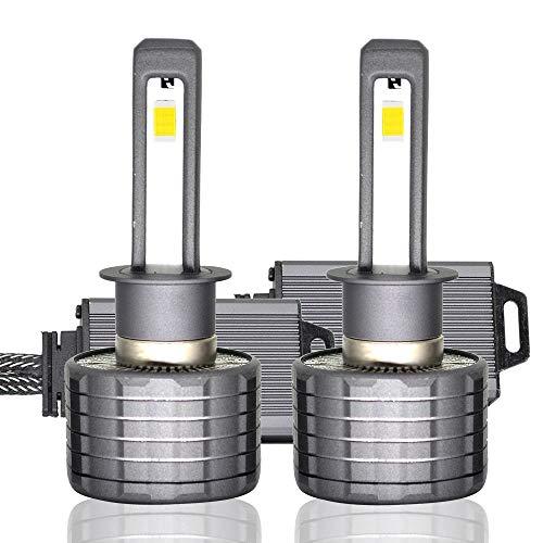 Kit de conversion ampoules de phares à, phares à puce CSP à puce 6400Lumen 6000K CSP H1 / H7 / H11-1 paire (Edition : H1)