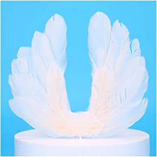 Charmly 4 Pieces Wing Cake Topper Party Birthday Wedding Decorations Supplies White