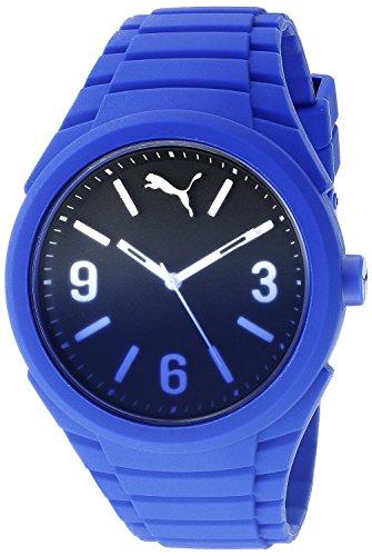 Puma Gummy Fading - Reloj análogico de cuarzo con correa de silicona unisex, color azul
