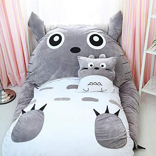 VIVICL Mein Nachbar Totoro Tatami Matratze Plüsch Cartoon Lazy Schlafsofa Sitzsack Matratze Für Kinder Kreative Schlafsaal Matratze Faltbarer Kleiner Schlafzimmer Stuhl,200 * 150cm