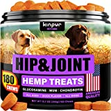 Advanced Glucosamine for Dogs Hip and Joint Supplement - Inflammation Joint Support for Dogs with Glucosamine, Chondroitin, Msm - Effective Hip and Joint Chews for Large, Small Dogs with Pain Relief