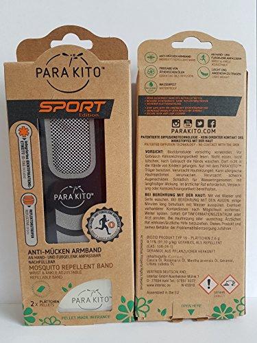PARA KITO Mückenschutz Armband 1 St. + 2 Plättchen Sport Schwarz